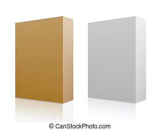 Two paper boxes. Vector