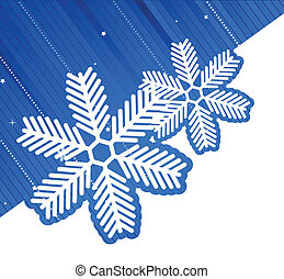 Xmas background with two white snowflake Abstract...