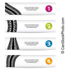 banners with special tire design
