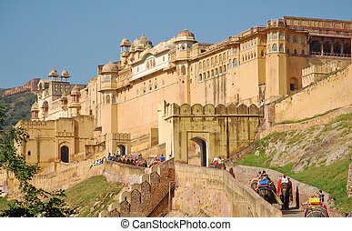 Amber Fort in Jaipur, India - Passage to Amber Fort in...