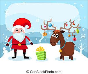 christmas card - vector illustration of a christmas card