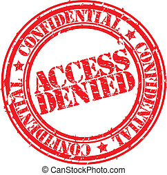 Grunge access denied rubber stamp, vector