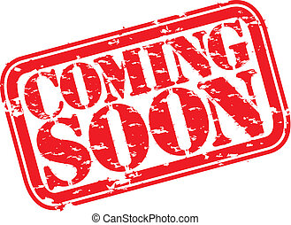 Grunge coming soon rubber stamp, vector