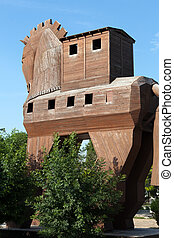 Trojan Horse located in Troy, Turkey