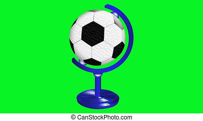 soccer ball standing in the globest