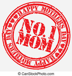 Grunge Happy mother's day rubber st