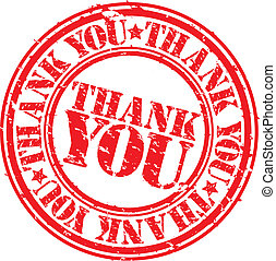 Grunge thank you rubber stamp, vector