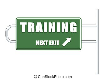 Training Sign - Rendered artwork with white background