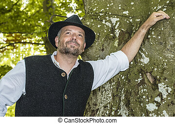 Man with Bavarian tradition