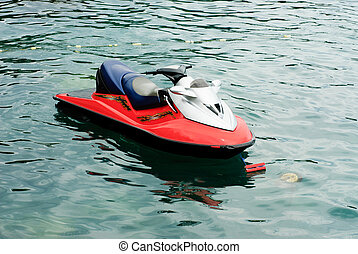 jet ski on the sea background