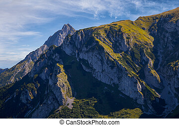 Giewont with a cross - Giewont - Famous mountain in Polish...