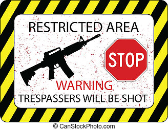 no trespassers allowed sign against white background,...