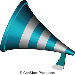 3d bullhorn icon against white background, abstract vector...