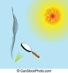 solar power, abstract vector art illustration; image...