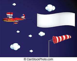 air transportation, abstract vector art illustration; image...