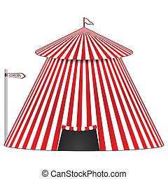 circus tent, abstract vector art illustration; image...