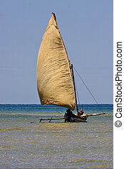 water e people in a fishing boat - a boat for fish in nosy...