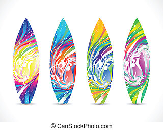 abstract colorful surf board template vector illustration