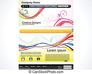 abstract artistic web template