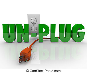 Unplug Cord Electrical Outlet Electricity Power Reduction -...