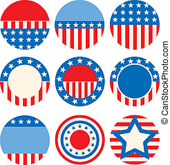 badges - A set of icons with symbols of the USA