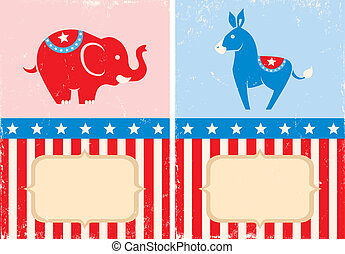 Symbols of American parties - Symbols of US Democratic and...