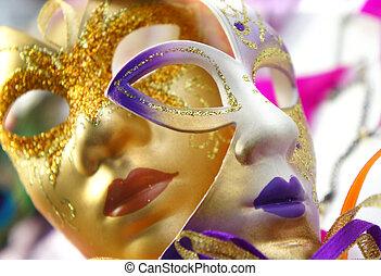 Venetian carnival masks, Venice, Italy - Beautiful Venetian...