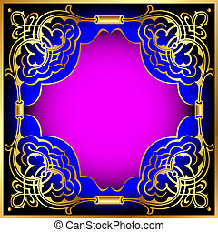 background frame with gold(en) beautiful pattern -...