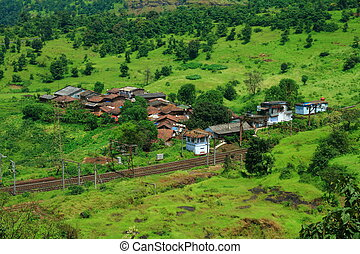 Small village and greenery - A beautiful landscape with a...