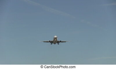 Airplane flying overhead - This is high quality HD footage...