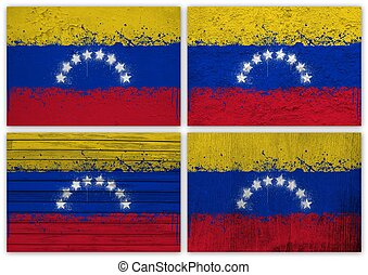 Venezuela flag collage