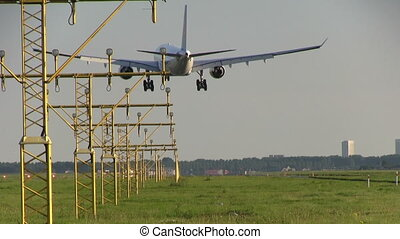 Airplane landing - This is high quality HD footage of...