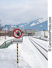 Railroad sign Austria