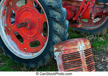 Farm Tractor sitting in the field