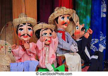 Mexicans Puppet, Cozumel , Mexico