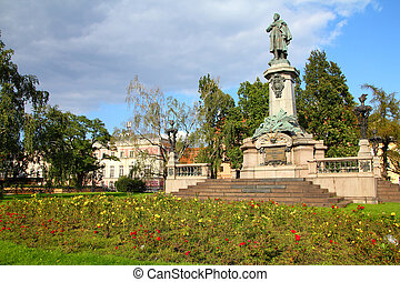Warsaw - Adam Mickiewicz - Warsaw, capital city of Poland....