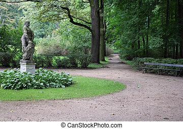 Lazienki, Warsaw - Warsaw, Poland. Famous Lazienki park and...