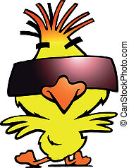 dancer chicken with cool sunglass
