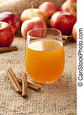 Fresh Organic Apple Cider with Apples and Cinnamon