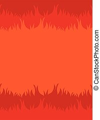 Fire Background - Fiery background with space for text in...