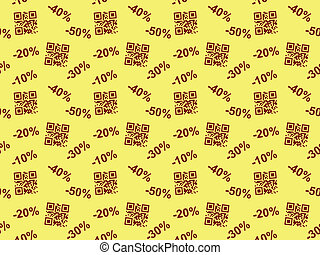 seamless pattern with QR code sale