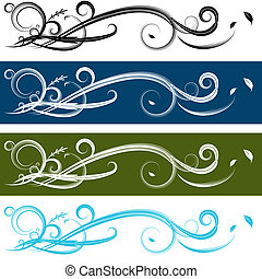 Spiral Banner Set - An image of a spiral banner set