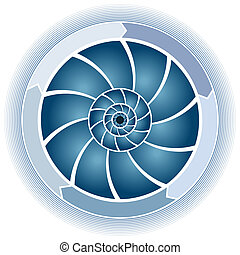 Swirl Circle Chart - An image of a swirl circle chart