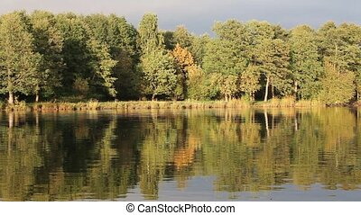 Autumn Lake - lake reflects the fall colors on its shore