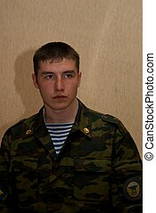 Young brave man solder - Young and strong russian solder