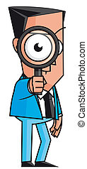 Business inspection - Isolated illustration Business...