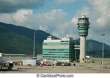 Hong Kong Airport tower - Hong Kong International Airport...