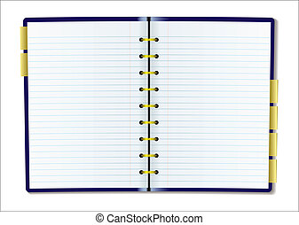 Blank diary page - Two pages of diary blank with rulled...