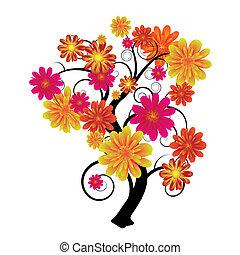 floral, árvore