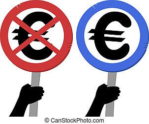 Symbol euro - ive design of symbol euro